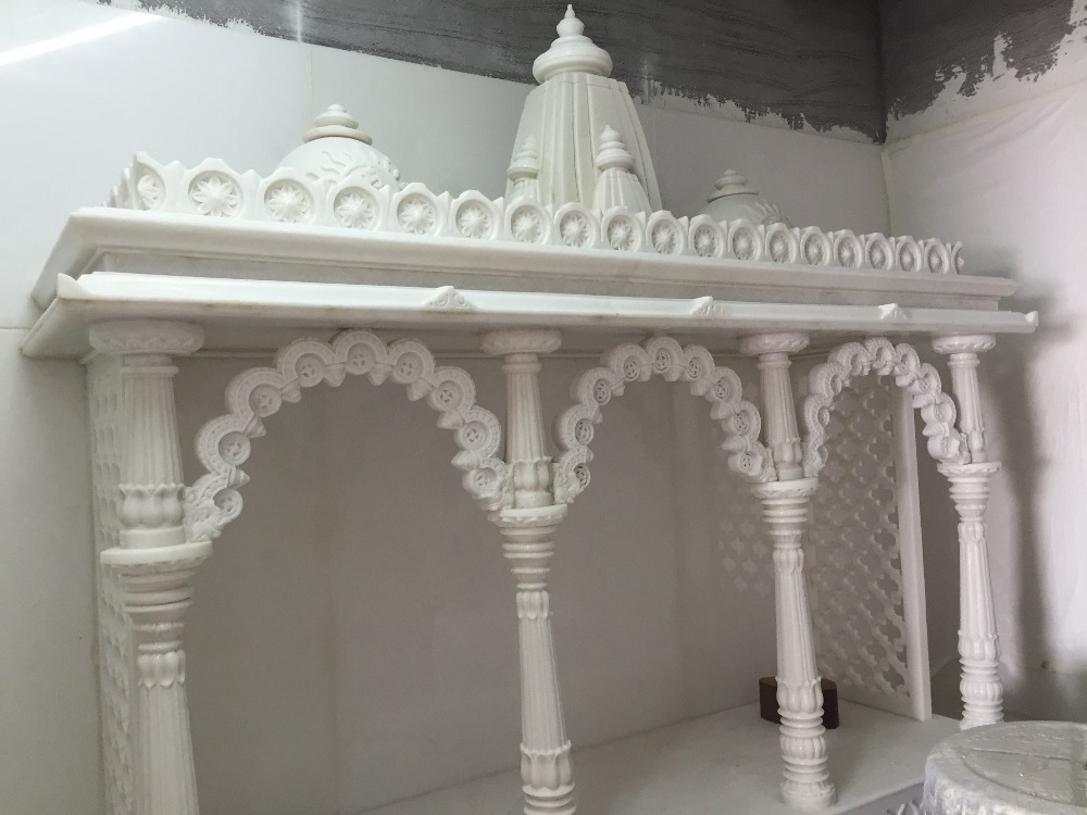 2016 New Style Reasonable Pricing White Marble Temple Designs For Home White Designing Temple