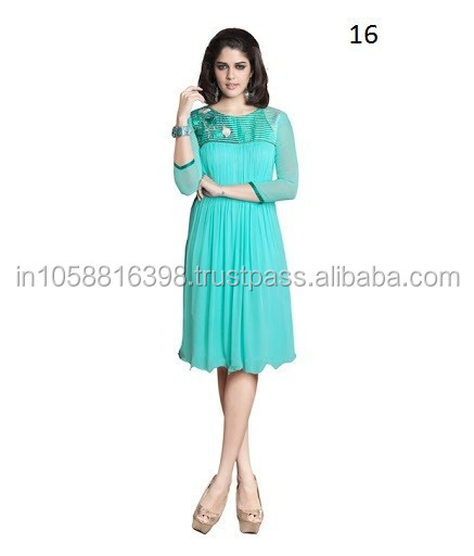 New Indian Designer Fancy Ladies Long Tunic Kurta Kurti Shirt Top ...