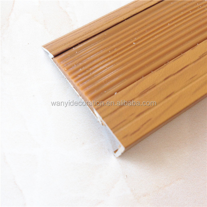 Wood Grain Aluminum Flooring Trim For Joint And Connection Of Floor