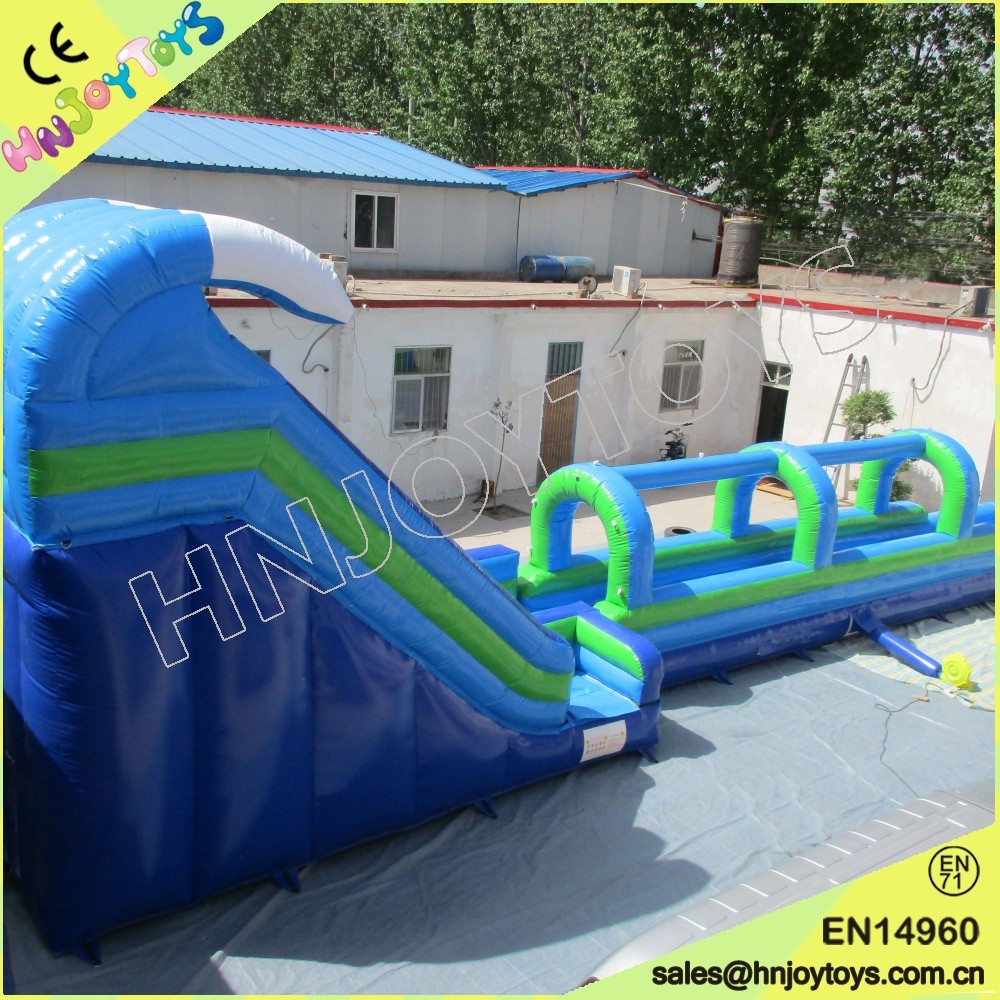 giant inflatables water slidesocean wave inflatable pool slide for sale