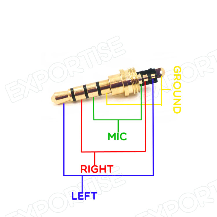 Male Plug Wiring Diagram : Mm jack rca audio connector pole plug for