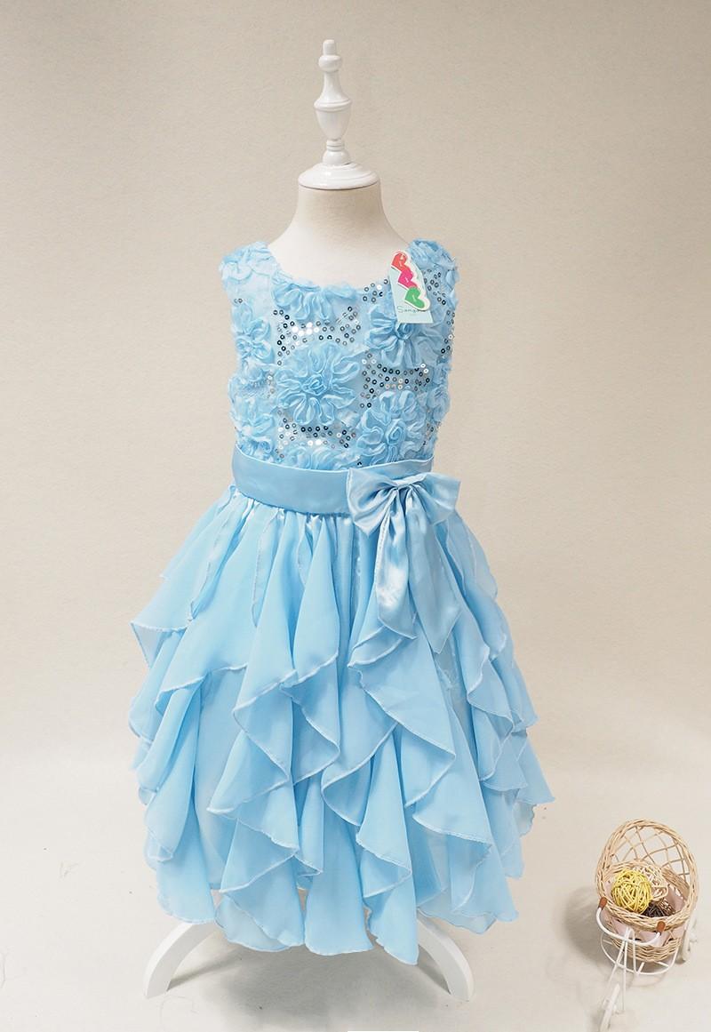 d3f81ad84b06 Kids Long Chiffon Party Dress Design Baby Frock Design Flower Chiffon Baby  Dress - Buy Kids Long Chiffon Party Dress