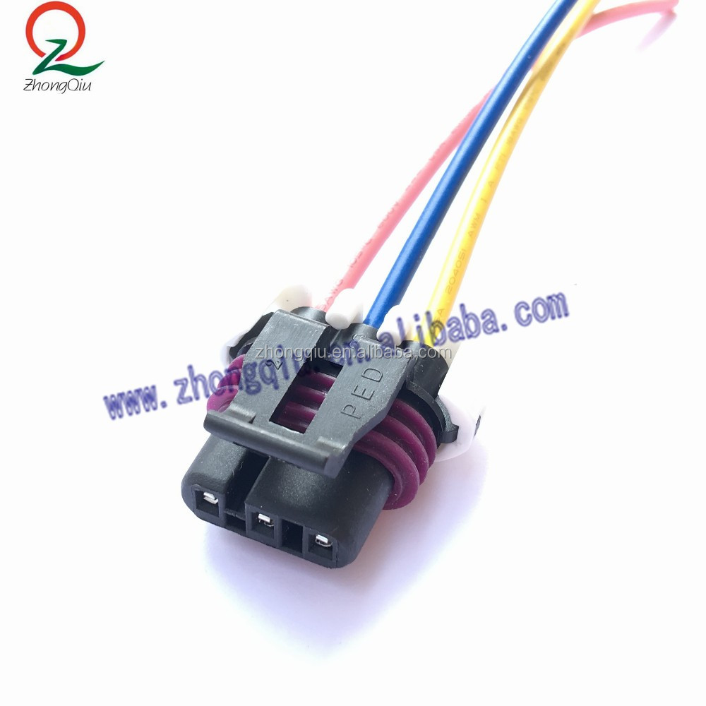 3 Pin Maf Sensor Pigtail Connector Wiring Harness For Gm Ls1 Lt1 Lt4 57l