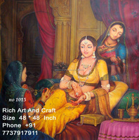 Indian folk Traditional Art Gallery Oil Canvas Painting