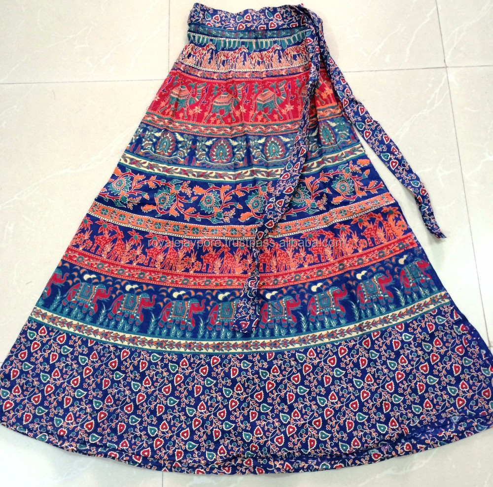 Indian wrap around skirts sarong style tribal floral cotton prints