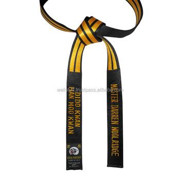 Comprar maestro Deluxe cinturón negro de Taekwondo Judo Karate Hapkido  cinturones 073417186467