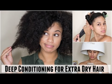 Deep Conditioning Treatment Routine for Extra Dry Hair & Scalp on Natural Hair