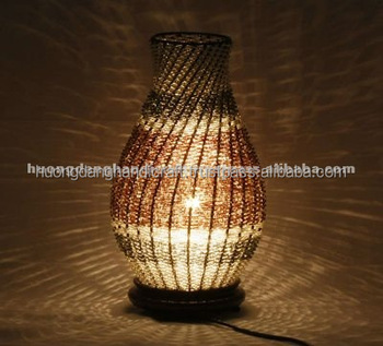 Hotel Decor Rattan Lamp Handicraft