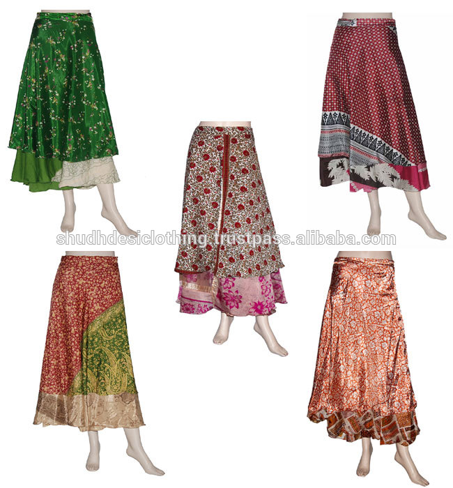 Indian Wrap Skirt Cotton Mandala Boho Long Bridesmaid Bohemian Block Print
