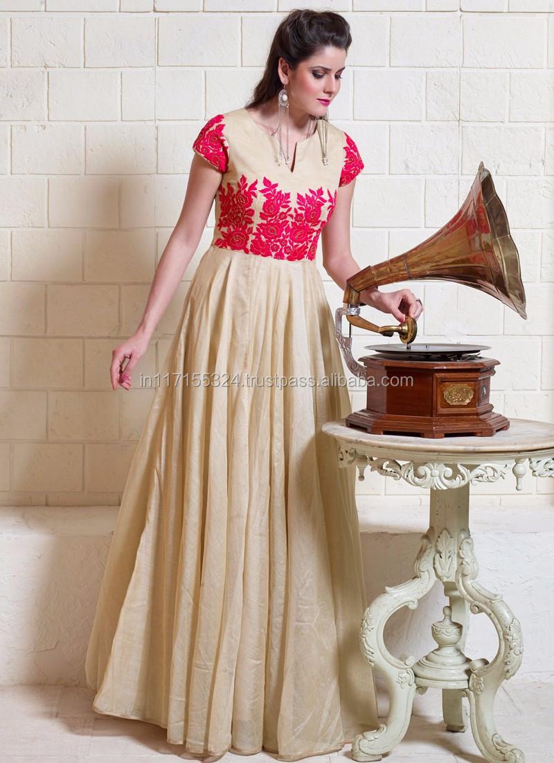 2af001c9f9 Neck designs for jute silk salwar kameez - Pakistani style ladies  fashionable salwar kameez - Ethnic