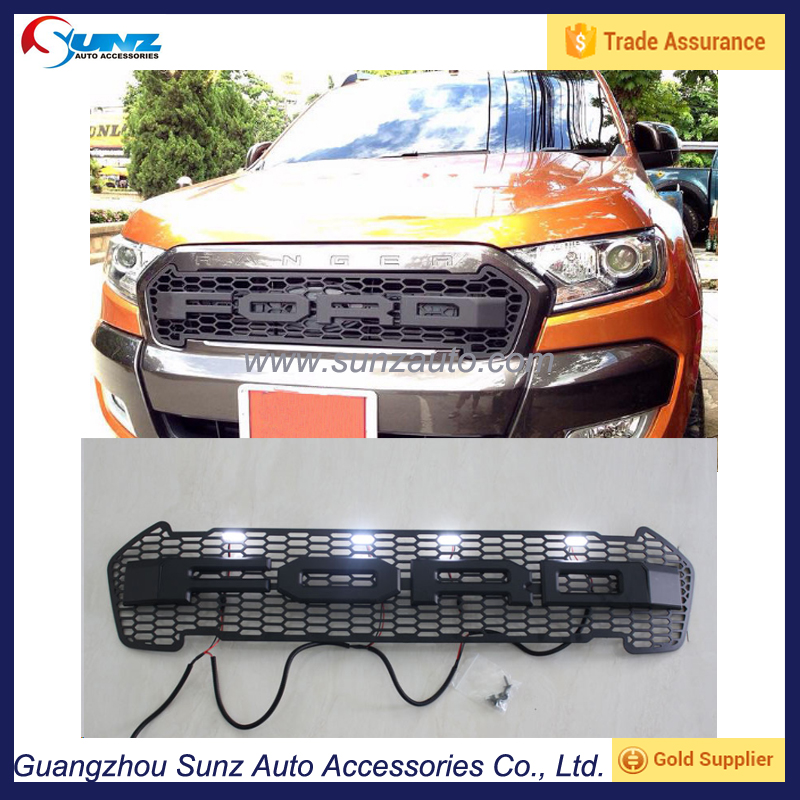 Exterior Accessories Front Grille Fit For Ford Ranger Wildtrak 2015 2016 Abs Front Grill Buy