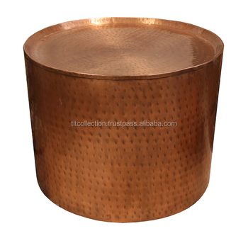 Pleasing Metal Round Copper Antique Finished Hammered Stool Table Side Stools Buy Antique Small Round Table Antique Chess Table Metal Round Stools Product Gamerscity Chair Design For Home Gamerscityorg