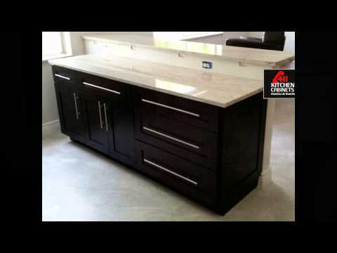 Expresso Shaker Cabinets With River White Granite