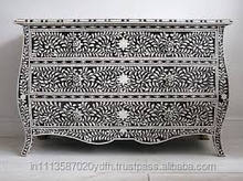 Black N White Mother of Pearl chest of drawers