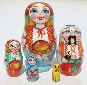 Ukrayna Aile Ahşap Yerleştirme Bebekler El Yapımı Yerleştirme Doll Sanat Boyama Rus Bebek Okul öncesi Oyuncaklar Set 5 Adet Buy Ahşap