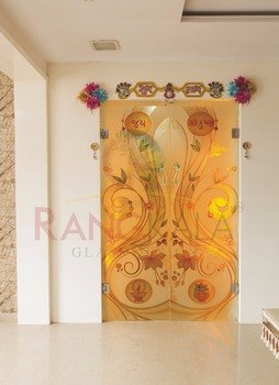 6fcc44f834cf Designer Temple Partition Glass Door - Buy Temple Glass Door ...