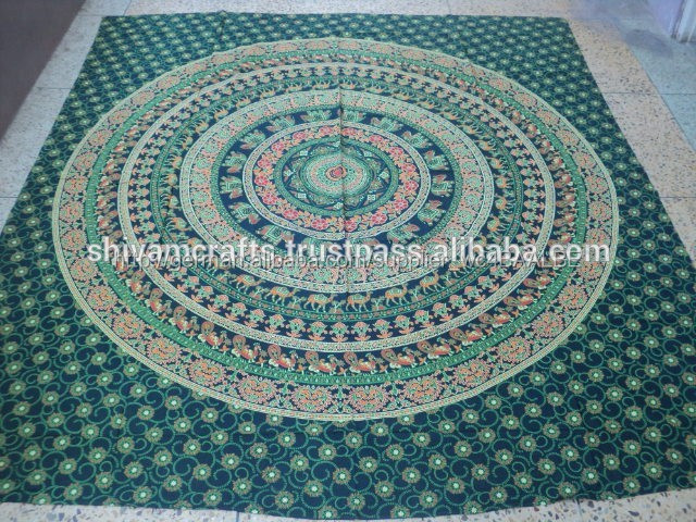 100 stück runde Mandala bettwäsche wandteppiche-Wandteppich ...