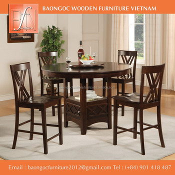 Round Dining Furniture Set In Vietnam