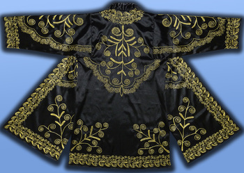 3a912469605 Stunning Uzbek Gold Silk Embroidered Robe Chapan From Bukhara T430 ...