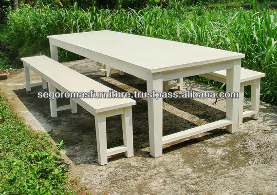 Attractive Halim White Wooden Bench Table Set   Buy Wooden Bench Table Set,Wooden  Dining Set,Corner Bench Sets Product On Alibaba.com