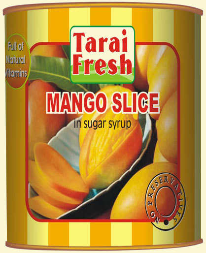 Mango slice in light syrup