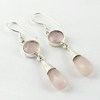 Ball Fashion 925_Earring !! Pink Rose Quartz Silver Jewelry, Wholesale Silver Top AJ Jewelry