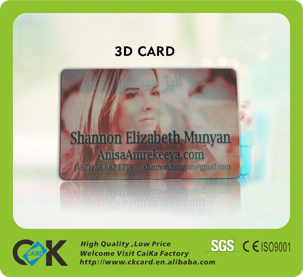 Free Sample! High Quality 3d Lenticular Portrait Card From China ...