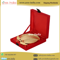 Best Selling Designer Mango Fruit Shape Serving Tray With Wooden Velvet Box,Corporate,Diwali,Christmas Gift