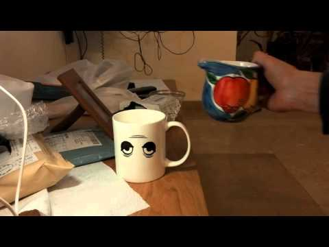 Hot Amazing Wake Up Eyes Magic Changing Mug Temperature Ceramic Coffee Cup | Unboxing+Test Review