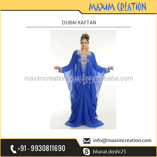 Top Rated India Fashion House Selling Exclusive Royal Looking Dubai Kaftan at Favourable International Rate