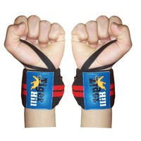 WRIST WRAPS 12 or 14inches long ELASTIC SUPPORT WEIGHT LIFTING W/THUMB LOOP POWER STRAPS