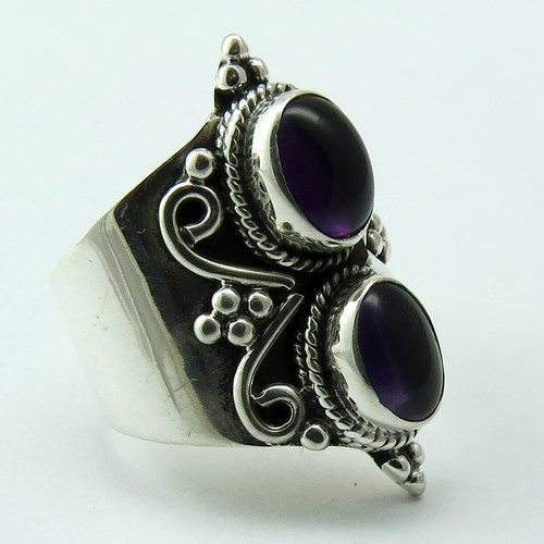 Take This Chance !! Amethyst 925 Sterling Silver Ring, Silver Jewellery Supplier, Handmade Silver Jewellery