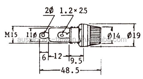 6 30mm fuse holder fuse base fuse box 1a