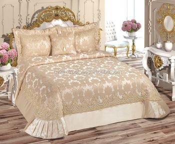 couvre lit lara Lara Couvre lit Ensemble (avec Perles) 4 Pcs café Léger   Buy  couvre lit lara