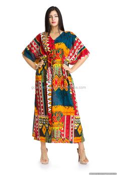 3c79d967f3 Indian cotton Hippy Boho Bikini Cover kaftan summer maxi dress Top Tunic  Beach Cover up Maxi