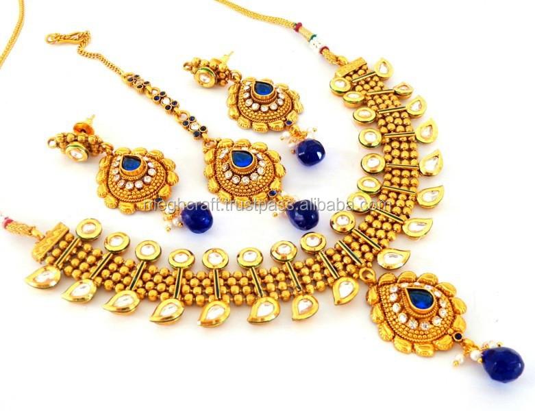 Bollywood Style Kundan Necklace Setindian Ethnic Kundan Jewellery