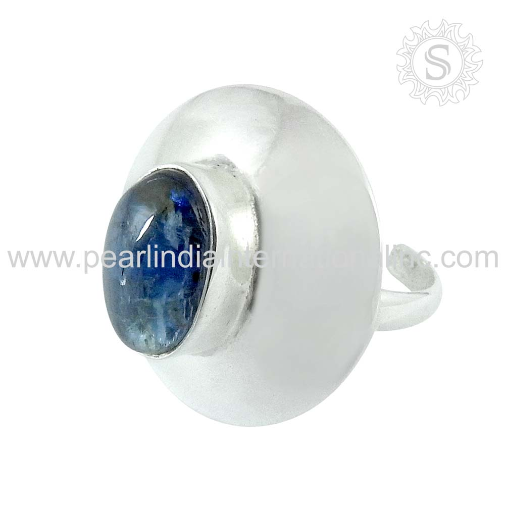 Natural Stone Jewelry 925 Sterling Silver Ring India Wholesale Silver Jewellery