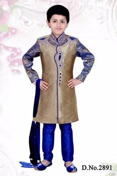 Blue Kids Children Kurta Sherwani Designs Buy Kids