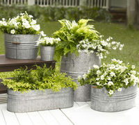 outdoor large metal material planters for sale