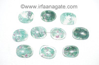 Ruby In Fuchsite Worry Stones: Wholesale Thumb Massage Stones: Ruby In Fuchsite Palm Stones
