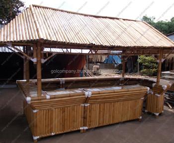 [vente En Gros] Gros Bambou Maison Bar-bambou Bar Tiki Hut-naturel Bambus  Bar-tabouret En Bambou/ Chaise-gazebo/bungalow - Buy Tabouret De Bar En ...