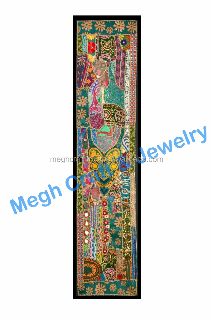 Ethnic Indian Wall Hanging Cotton Embroidered Tapestries wholesale