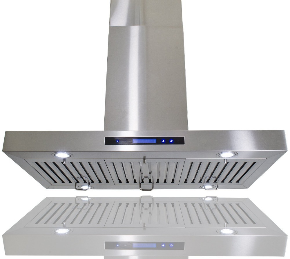 Hyxion Thor Kitchen 36 Inch Island Mount Chimney Range Hood