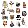embroidery printed patch badges brooches pins cat wolf rabbit fox animal robot