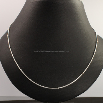 Wholesale 2mm 925 Solid Sterling Silver Necklace Beads Snake Chain 18inch 46cm