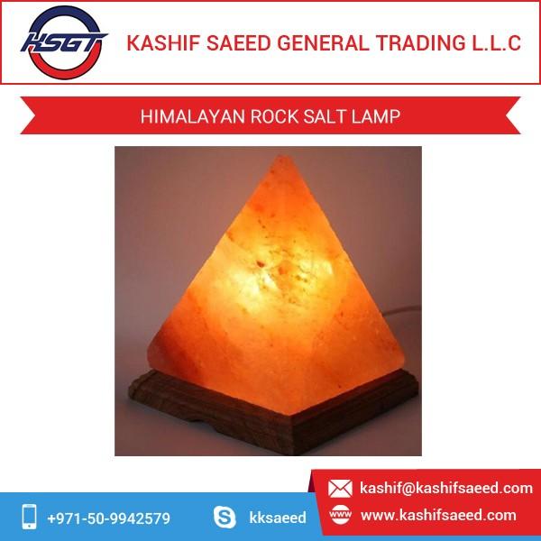 Crystal Decor Himalyan Salt Lamp Wholesale With Wooden Base - Buy ...