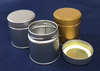 Original screw top tea tin for matcha storage, original print or label are also available