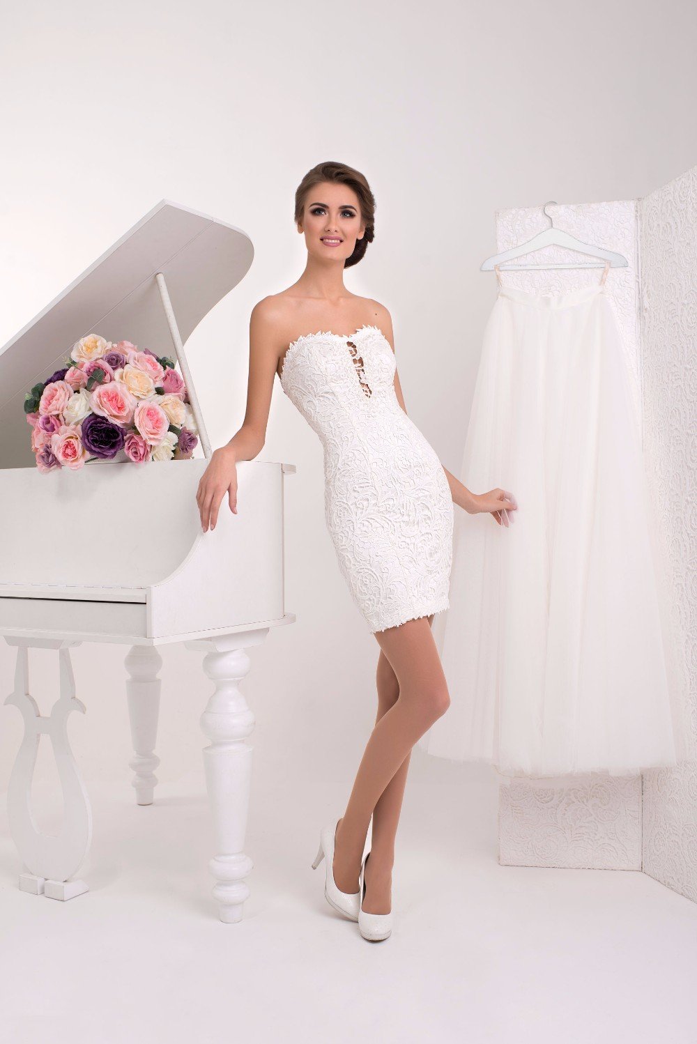 Sexy Short Mini White Wedding Dress, Sexy Short Mini White Wedding ...
