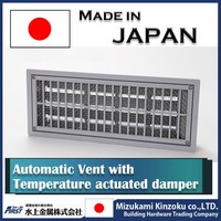 Best-selling air vent for subfloor with temperature actuated automatic damper made in Japan