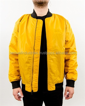 Varsity jacket quilted yellow bombers JJr1W